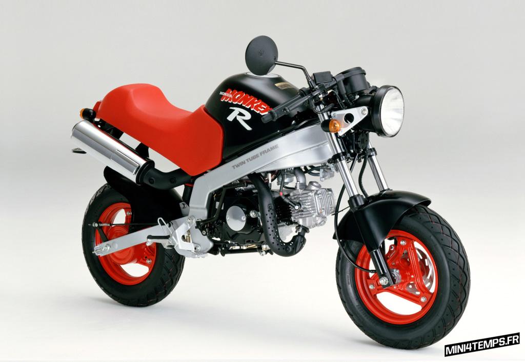Honda Monkey R Noir et Rouge - mini4temps.fr