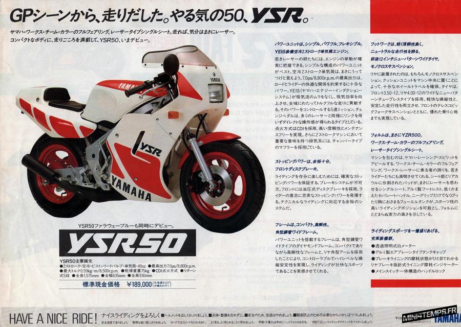 Yamaha YSR 50 rouge et blanc - mini4temps.fr