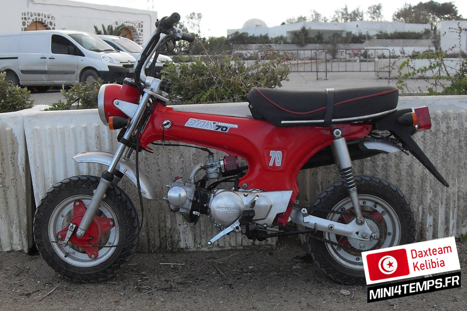 Daxteam Tunisia - Kelibia - Honda Dax ST70 - mini4temps.fr