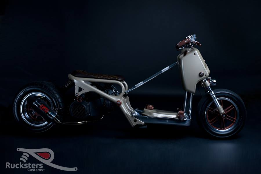 Honda Ruckus LV Project by Rucksters Customs™ - mini4temps.fr