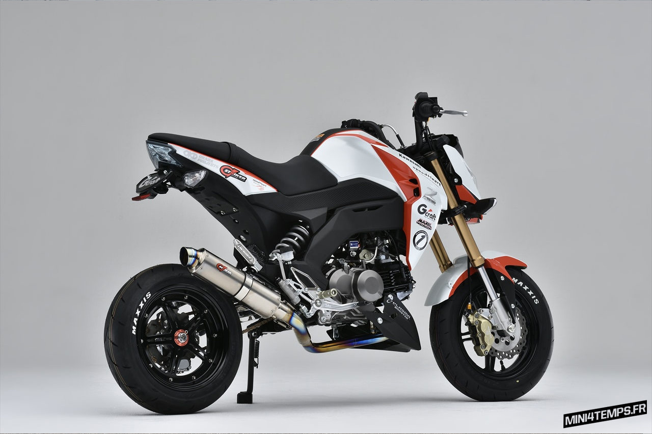 De belles Parts G-Craft pour le Kawasaki Z125 Pro - mini4temps.fr