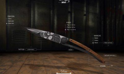 Couteaux motards personnalisables Deejo - mini4temps.fr
