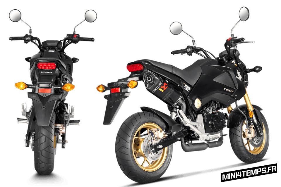 Silencieux Akrapovic pour Honda MSX 125 - mini4temps.fr