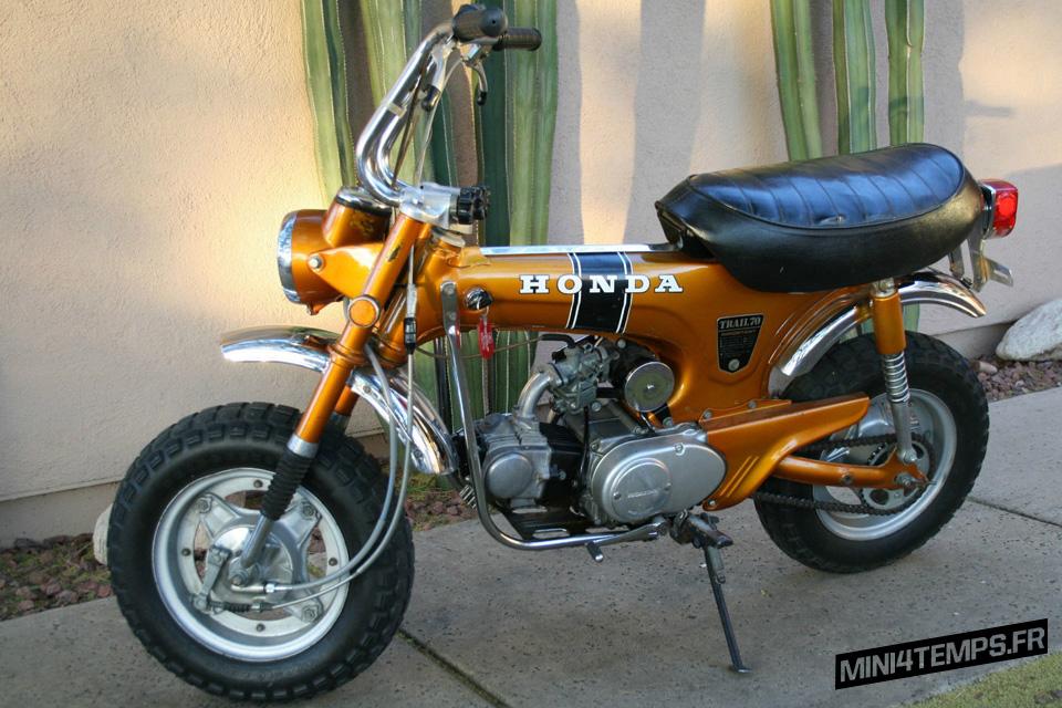 Le Honda Dax CT70 K0 de 1970 de Rustyskills - mini4temps.fr