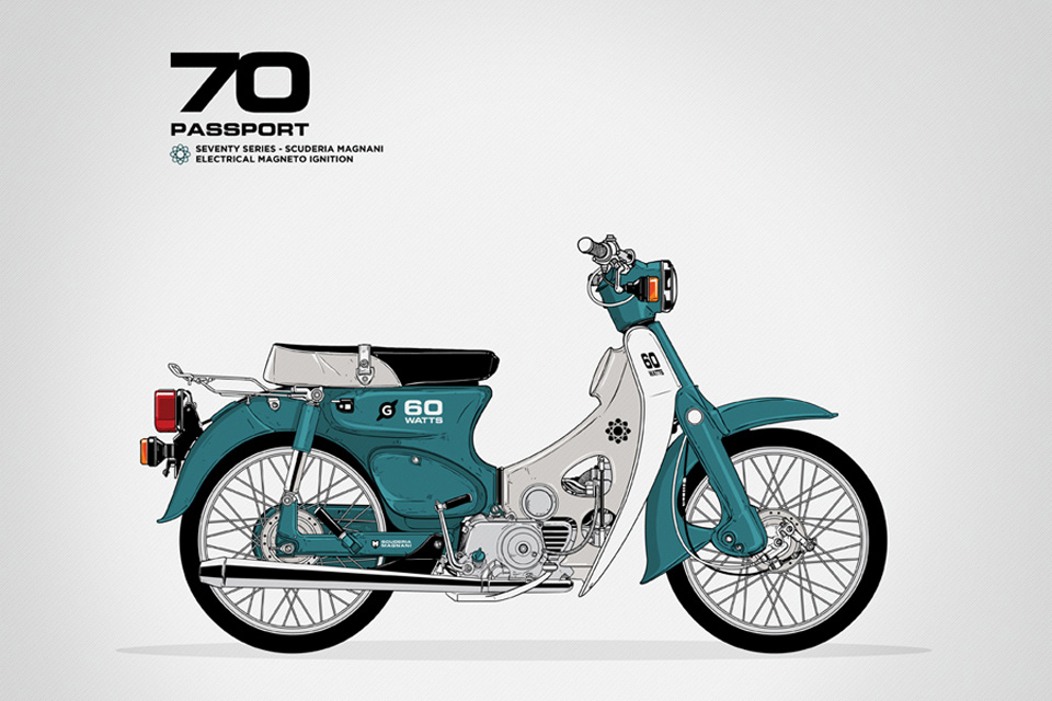 Honda Cub Passport by Gianmarco Magnani - mini4temps.fr
