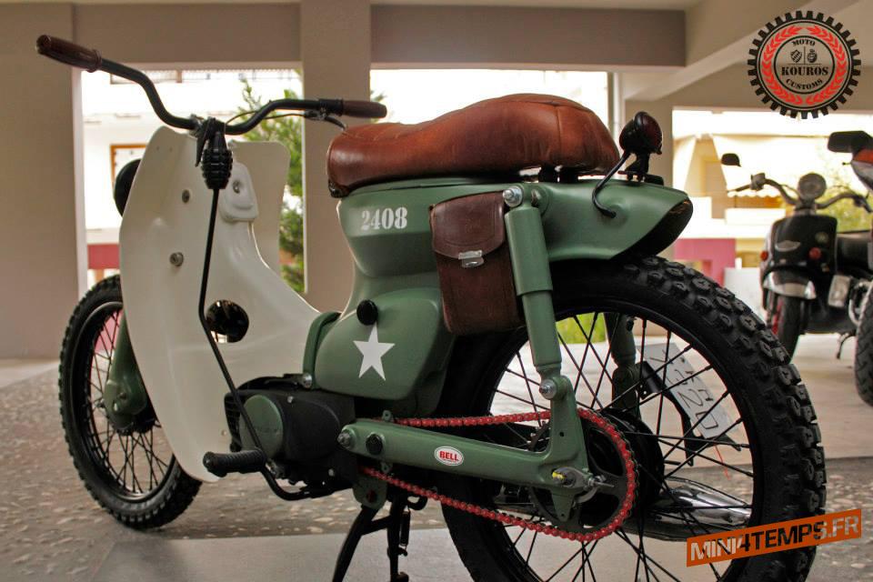 "Le Honda StreetCub C50 ""The Bomber"" de Kouros - mini4temps.fr"