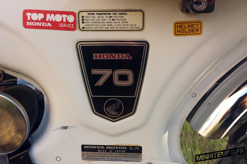 Honda Dax ST70 OT de 1976 - mini4temps.fr