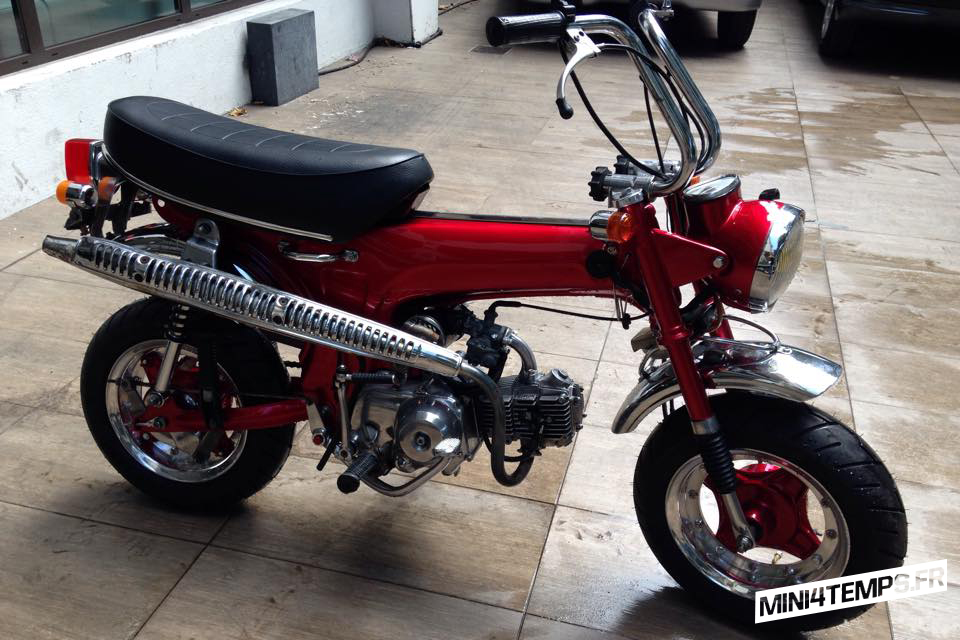Honda Dax ST70 red by Duke Motorcycles - mini4temps.fr