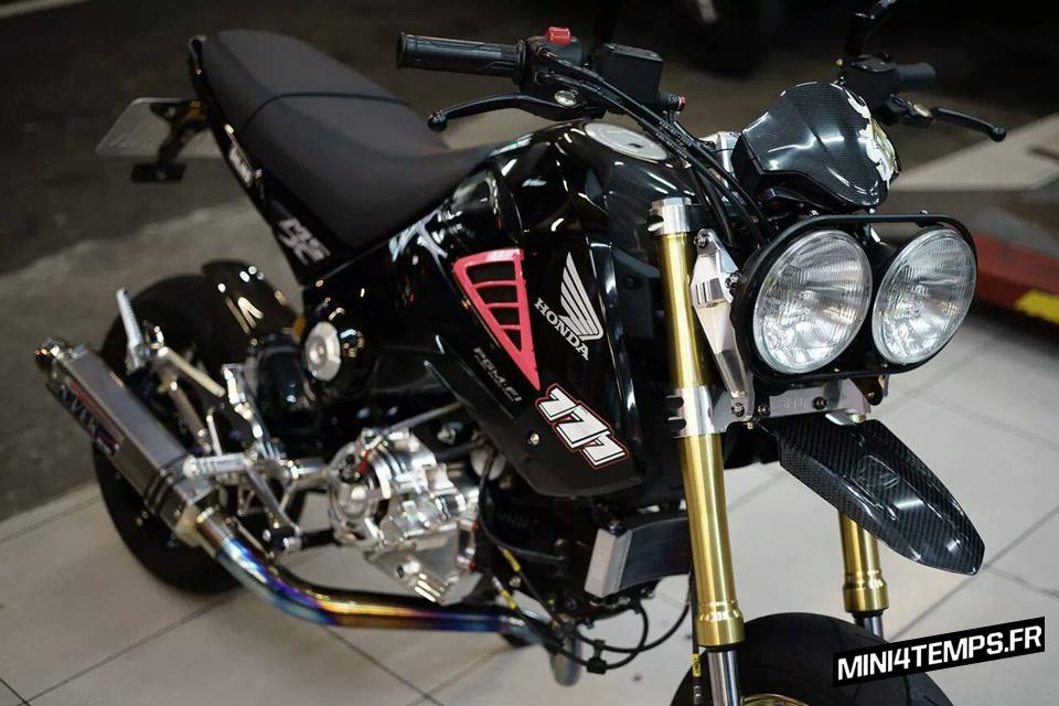 Honda MSX 125 noir - mini4temps.fr