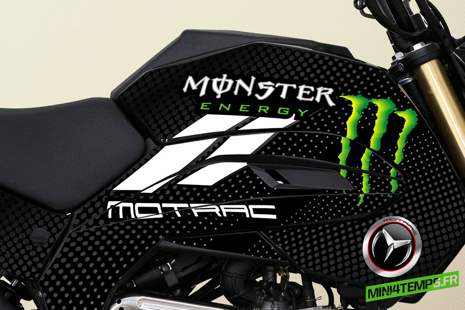 Motrac M-OX 50cc Monster Energy et Alpinestars - mini4temps.fr