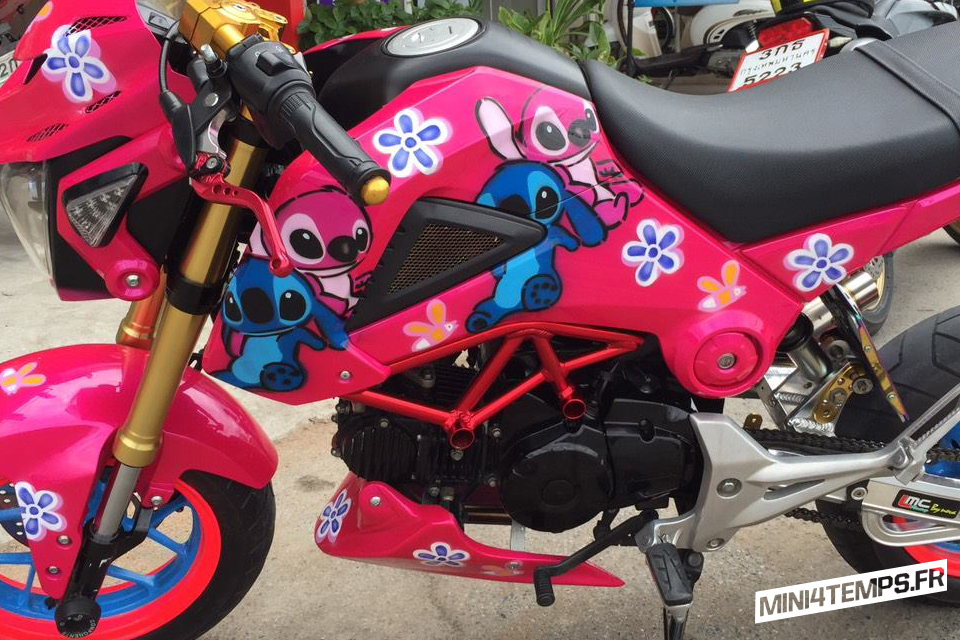 Pink Honda MSX Lilo et Stitch by MSX Accessories - mini4temps.fr