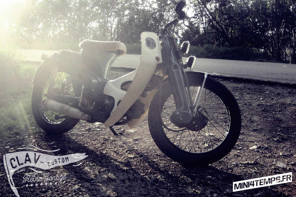 Honda C70 Krupp by Clav Custom - mini4temps.fr