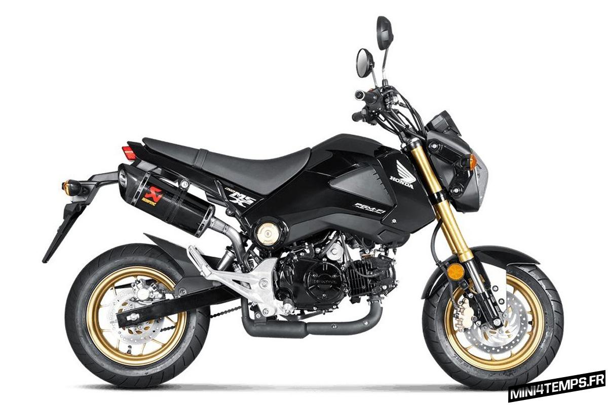 Echappement Akrapovic Slip-On pour Honda MSX 125 - mini4temps.fr
