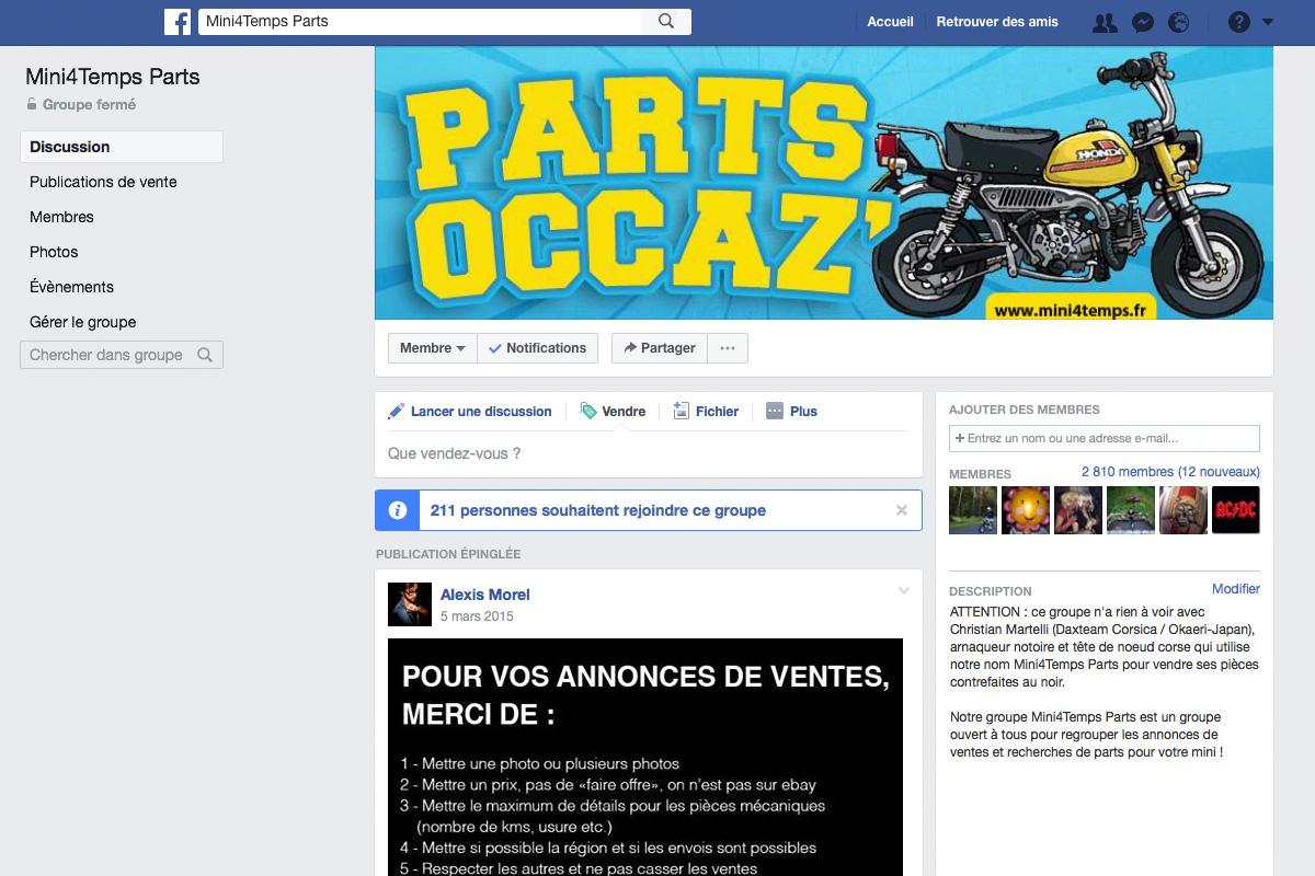 Mini4Temps Parts, le groupe d'achats/ventes de pièces et mini4temps ! - mini4temps.fr