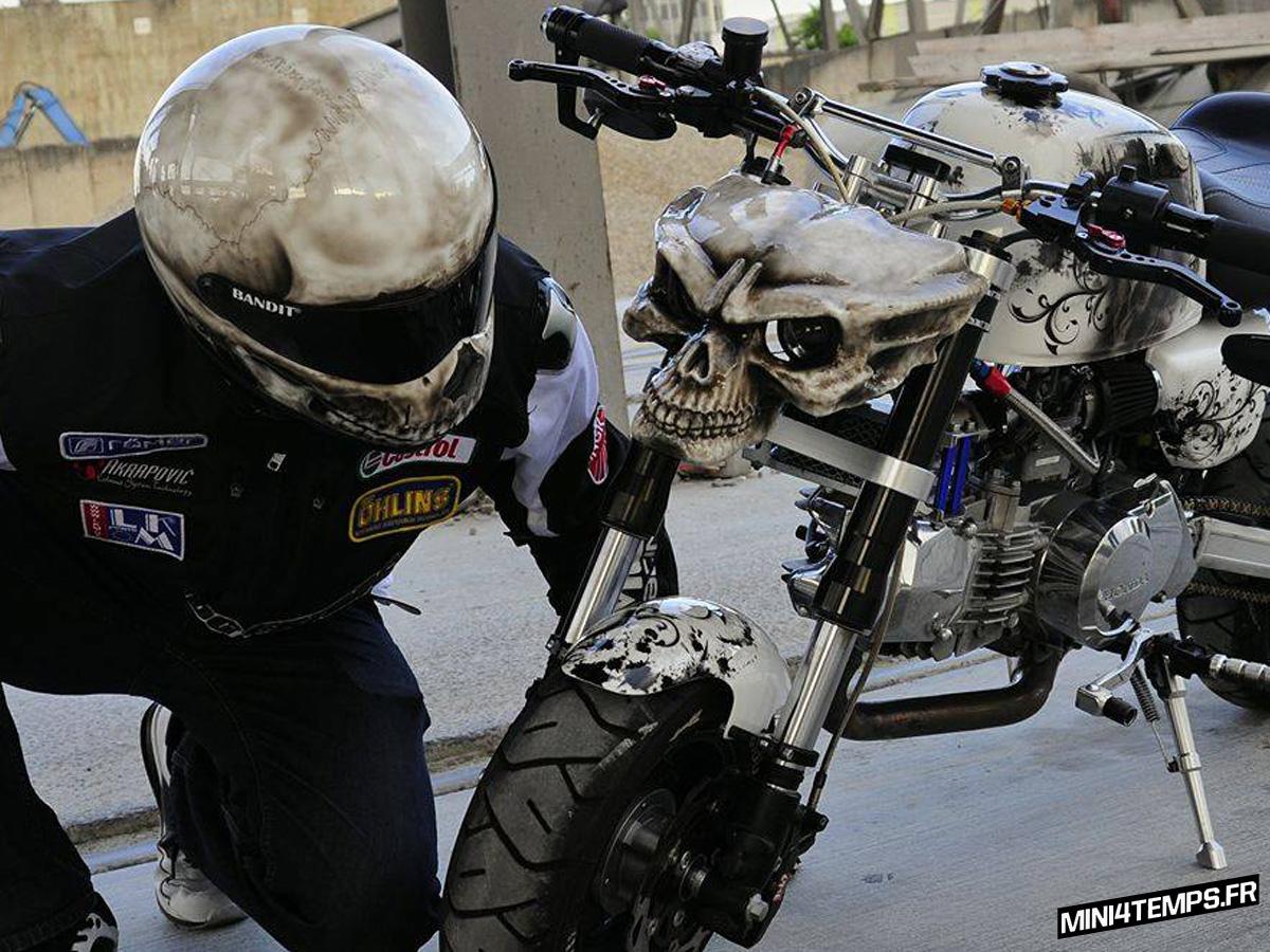 "A VENDRE : Honda Monkey Gorilla J2 ""Little Ghostrider"" - mini4temps.fr"