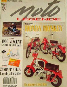 Moto Légende Octobre 1992 - Honda Monkey