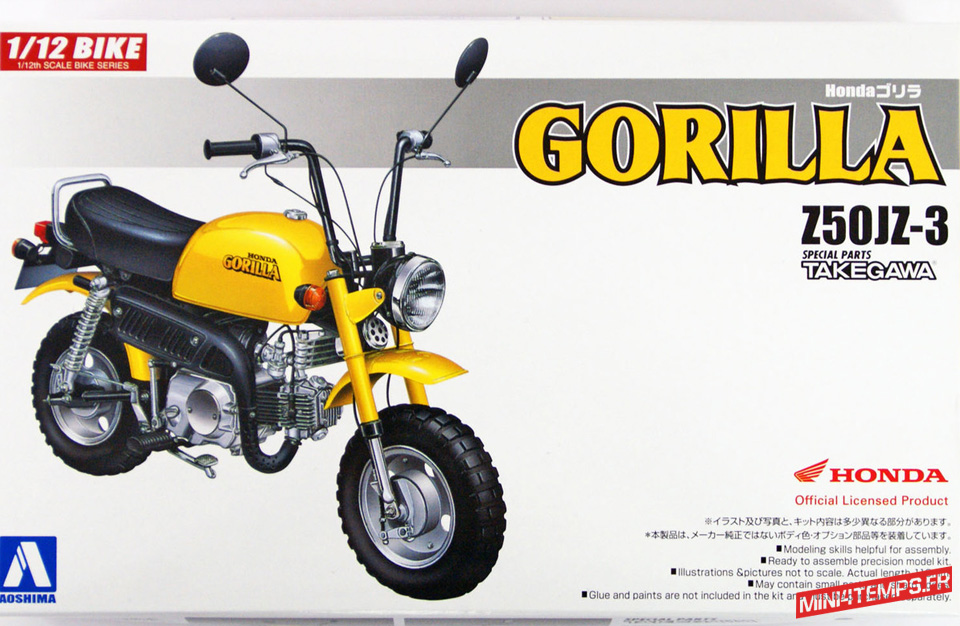 Maquette Aoshima Honda Gorilla - mini4temps.fr