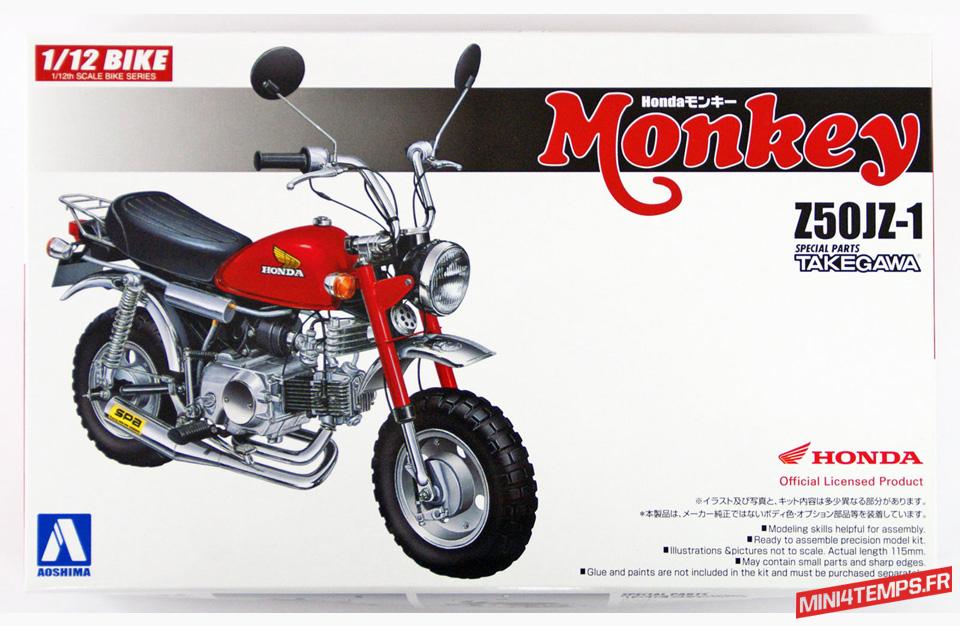 Maquette Aoshima Honda Monkey Takegawa - mini4temps.fr