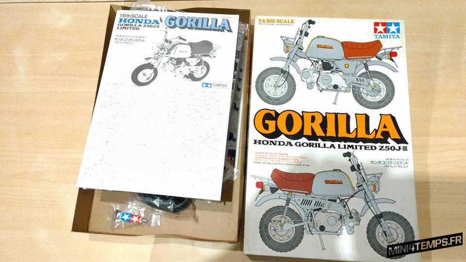 Maquette Tamiya Vintage Honda Gorilla Limited Z50 J-III - mini4temps.fr
