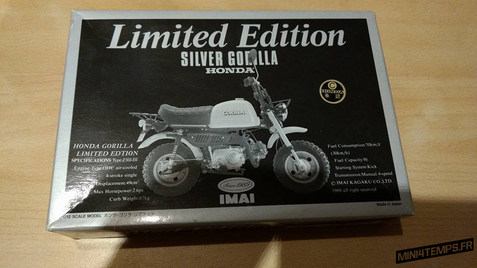 Maquette Imai 1/12 Honda Gorilla Silver Limited - mini4temps.fr