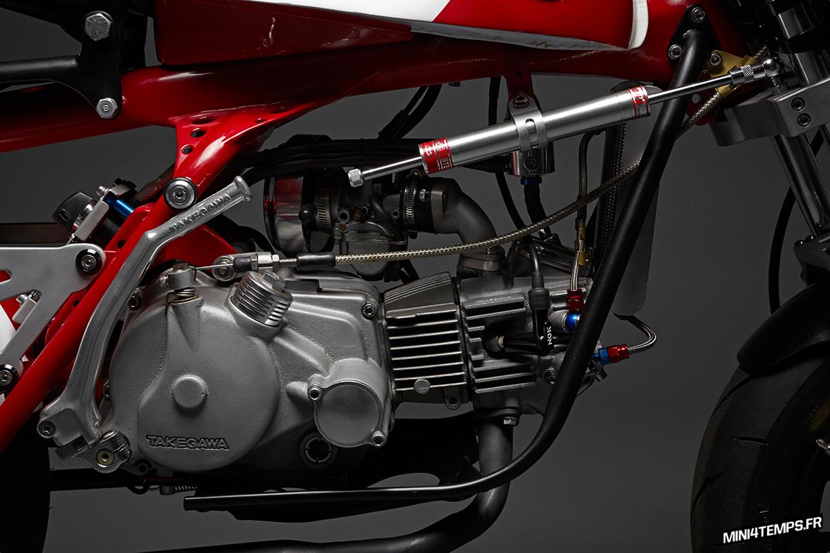 Le Honda Monkey Z50 Café Racer de Davmomoto - mini4temps.fr