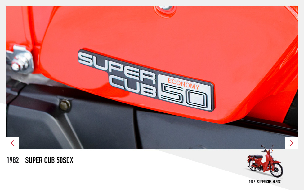 Les emblèmes du Honda Cub depuis ses débuts - mini4temps.fr