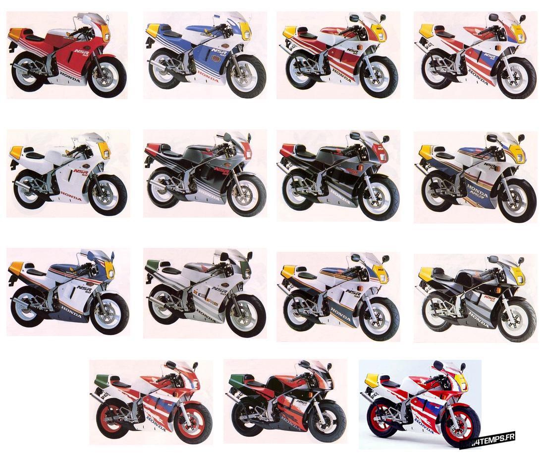 Modèles de Honda NSR 50 - mini4temps.fr