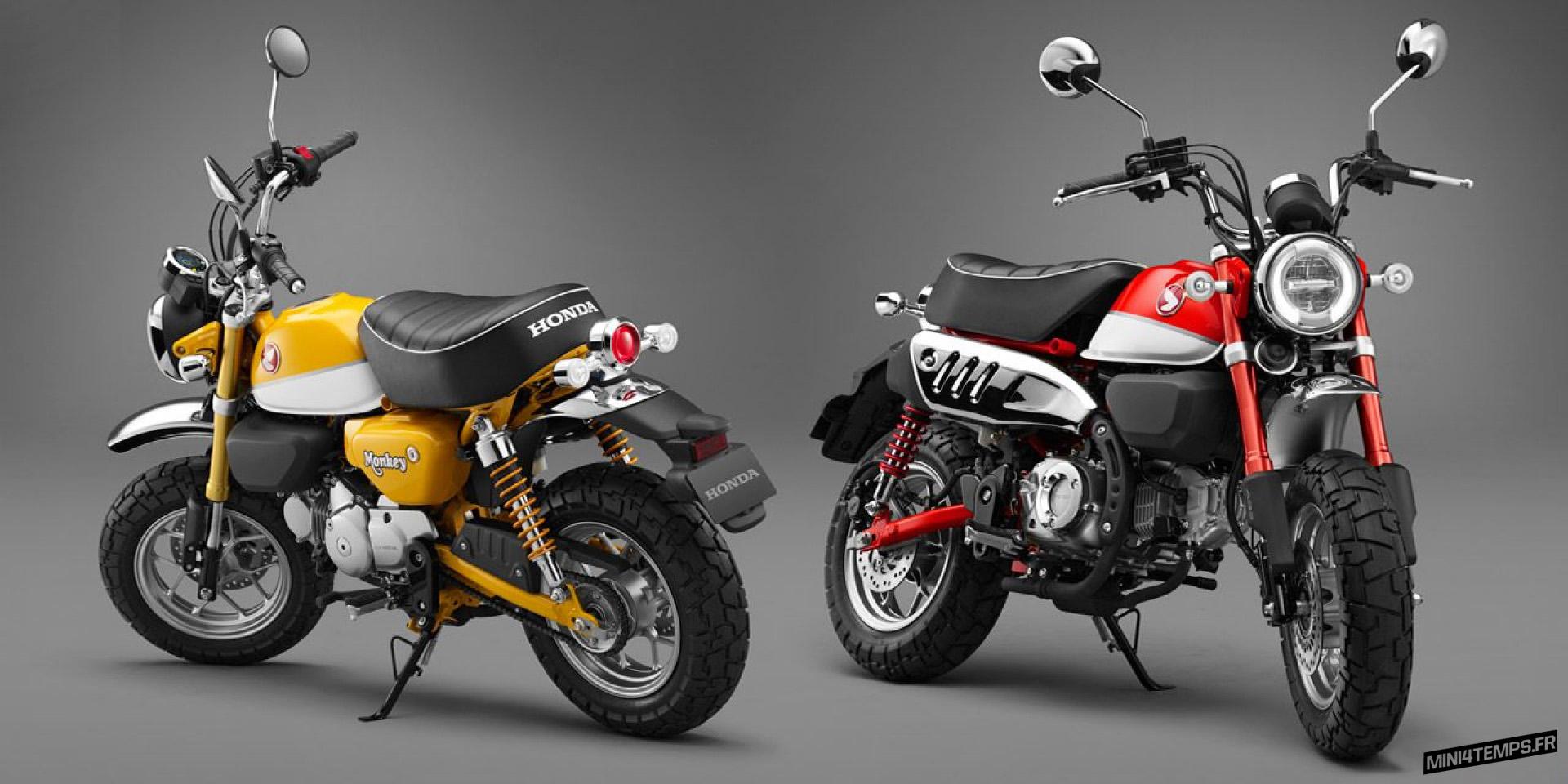 Les coloris du nouveau Honda Monkey 125 ! - mini4temps.fr