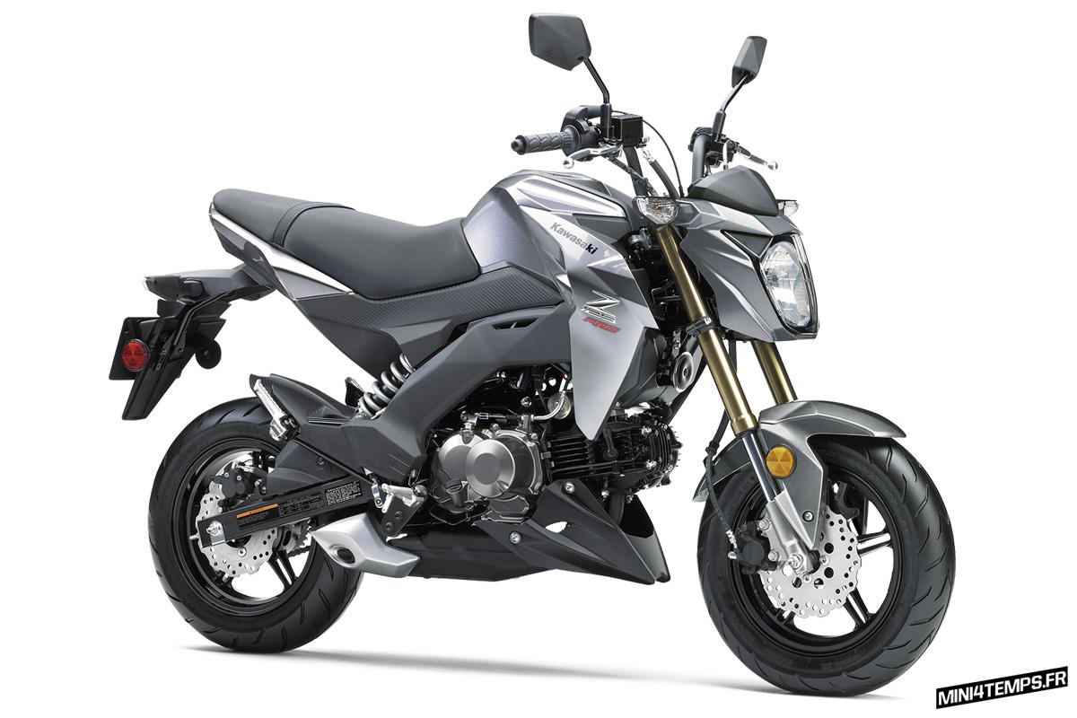"Kawasaki Z125 Pro 2017 ""Metallic Graphite Gray"" - mini4temps.fr"