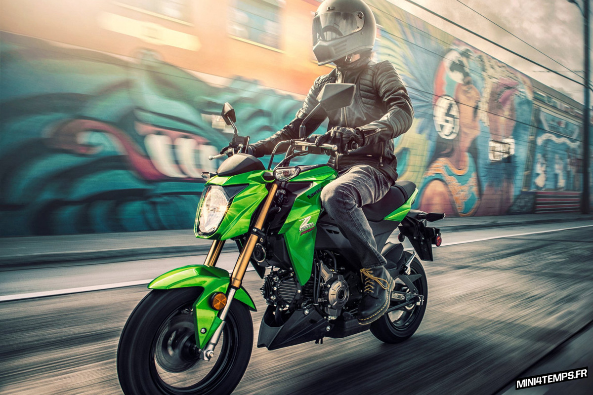 Kawasaki Z125 Pro 2017 - mini4temps.fr