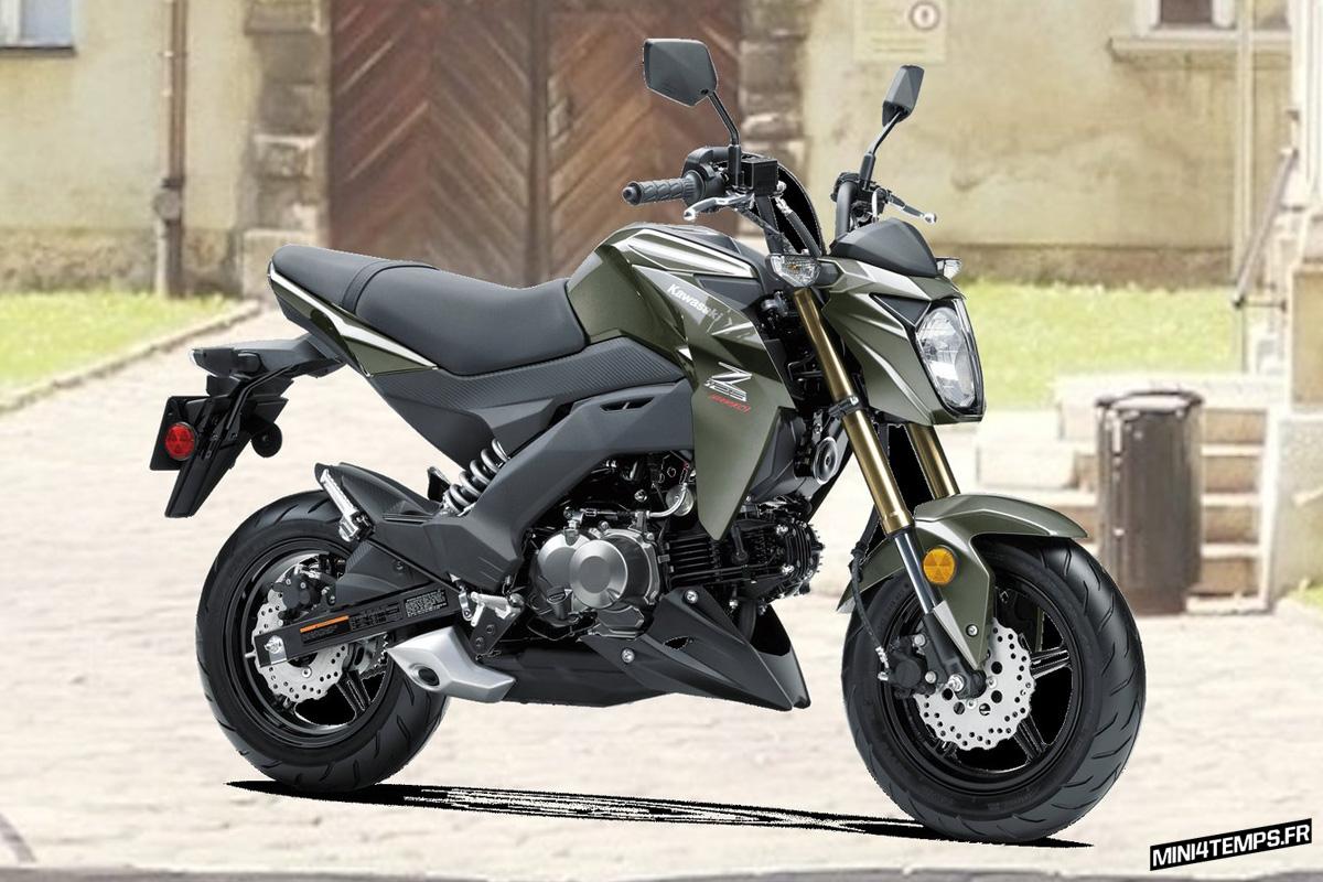 Kawasaki Z125 Pro SE 2018 - mini4temps.fr