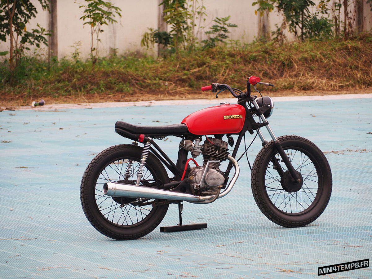 "Brat Honda GL100 ""377"" by Momotocustom - Mini4Temps.fr"