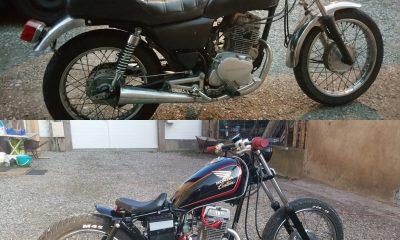 La Honda CM 125 custom de Jesse - mini4temps.fr