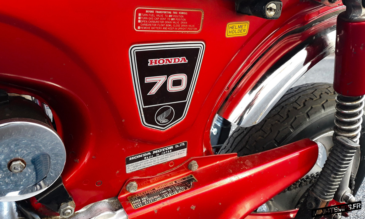 Le Honda Dax OT de 1976 de l'Atelier 1969 - mini4temps.fr