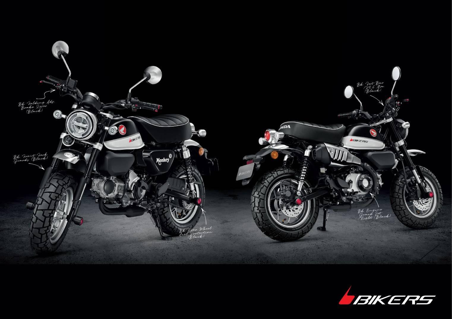 Des parts Bikers pour le nouveau Honda Monkey 125 2018 ! - mini4temps.fr