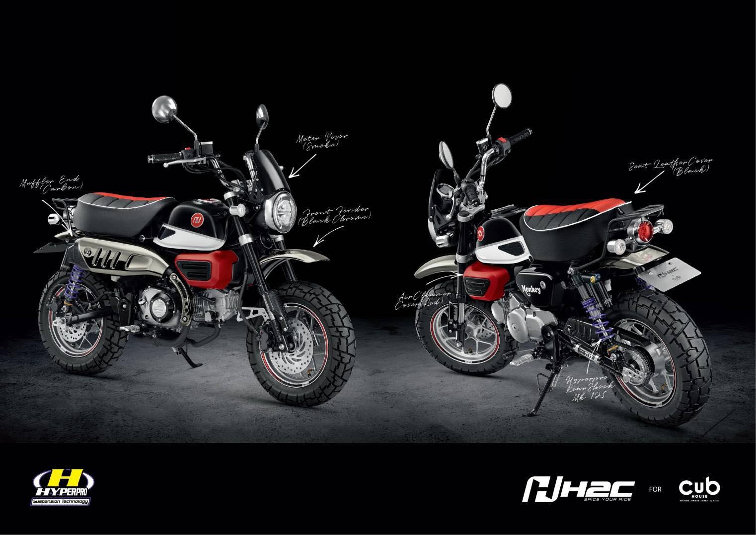 Des parts H2C pour le nouveau Honda Monkey 125 2018 ! - mini4temps.fr