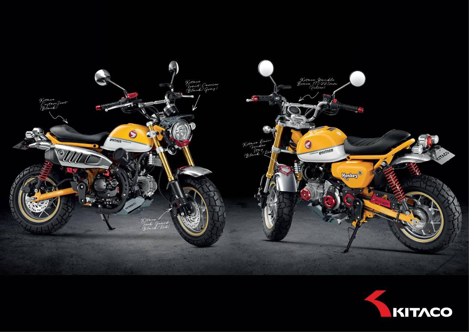 Des parts Kitaco pour le nouveau Honda Monkey 125 2018 ! - mini4temps.fr