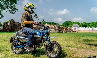 Le Honda Monkey 125 2018 bleu de Surachat Chanprasit - mini4temps.fr