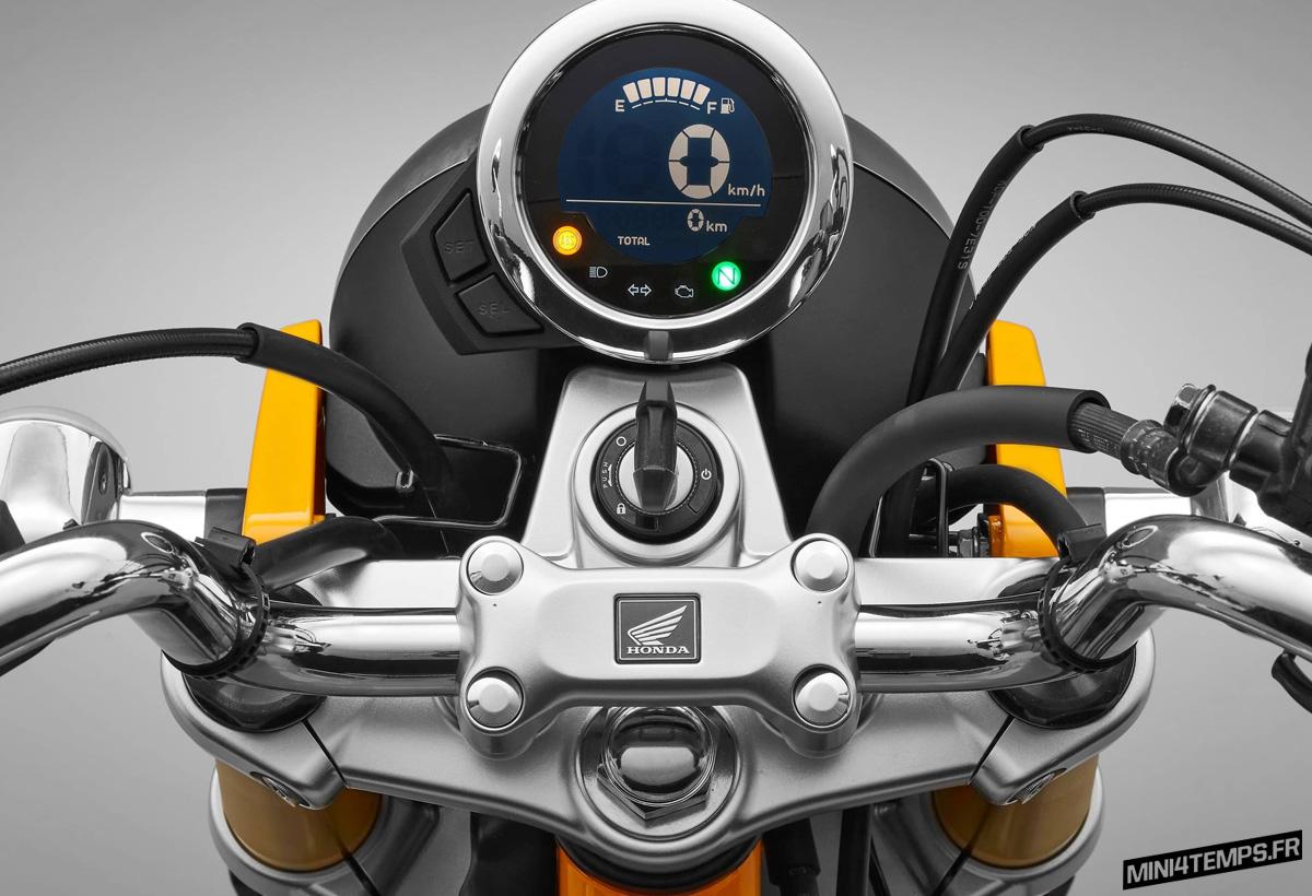 Le Honda Monkey 125 2018 Jaune Banana en détails - mini4temps.fr