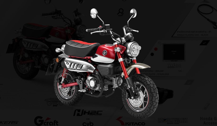 Customisation online du Honda Monkey 125 2018 - mini4temps.fr