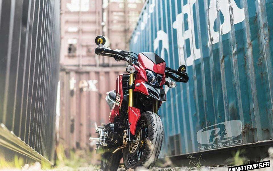 Le Honda MSX Supermotard de Kob Hotstorm - mini4temps.fr
