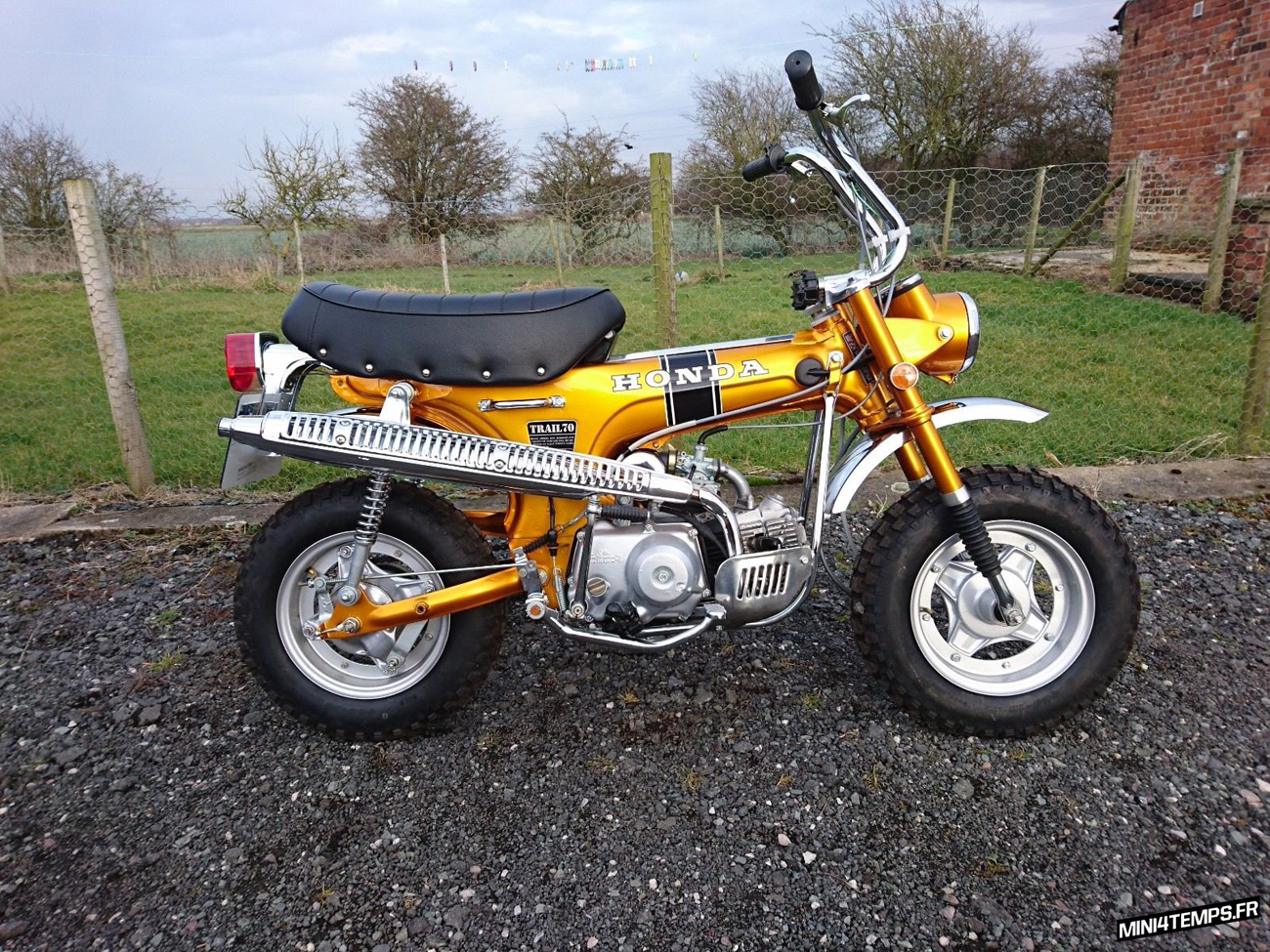 Le Honda Dax CT70 de Alastair - mini4temps.fr