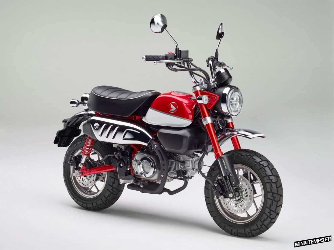 Honda Monkey 125 2018 rouge - mini4temps.fr