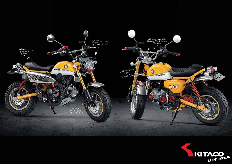 Des pièces Kitaco pour le Honda Monkey 125 2018 - mini4temps.fr
