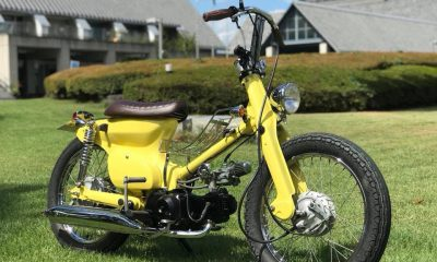 Le Honda Yellow Cub d'Atorika 521 - mini4temps.fr
