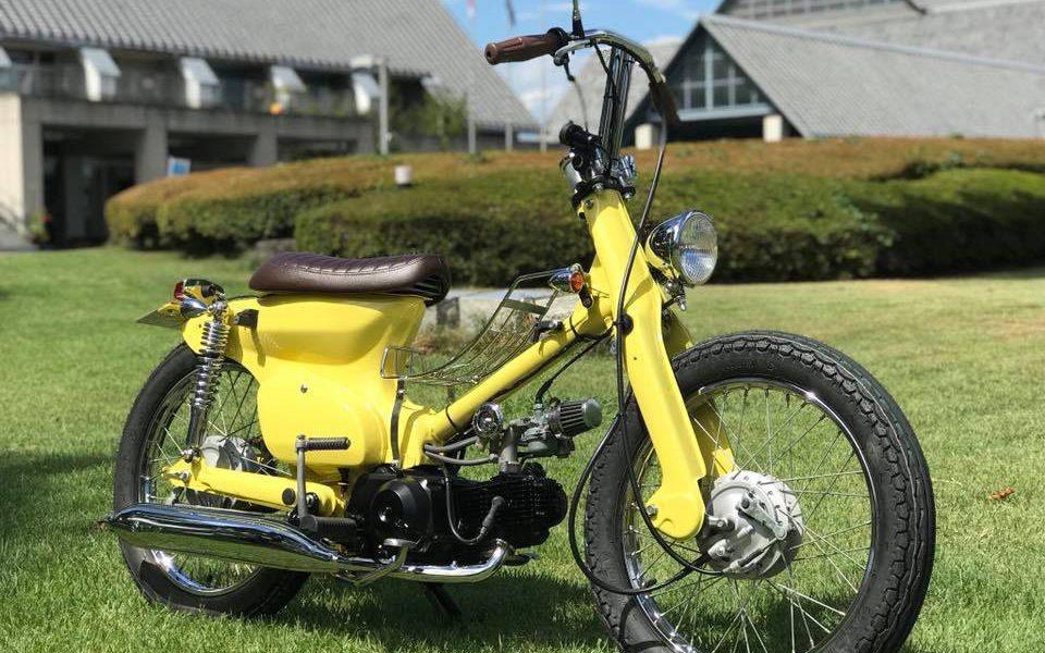 Le Honda Yellow Cub d'Atorika 521 - mini4temps.fr