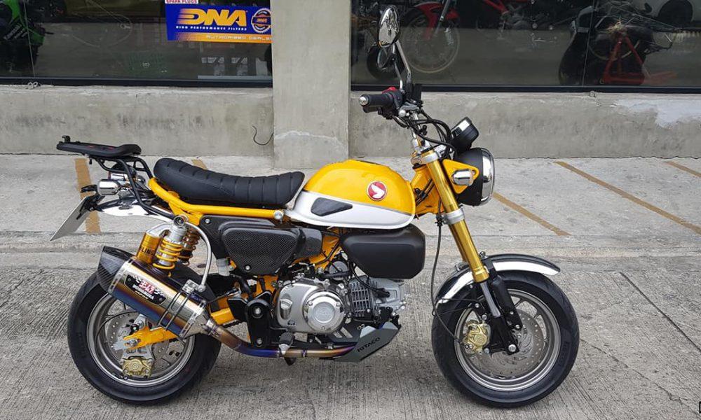 Le Honda Monkey 125 jaune de KD Project Racing - mini4temps.fr