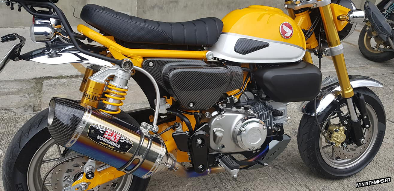 Le Honda Monkey 125 jaune de KD Project Racing - mini4temps.fr