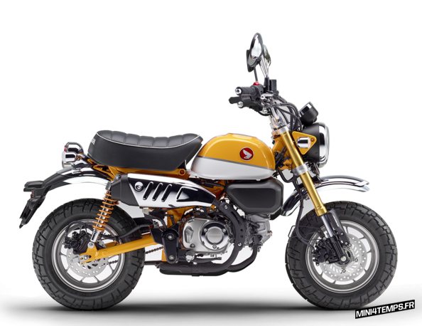 Honda Monkey 125 jaune modèle 2018 - mini4temps.fr