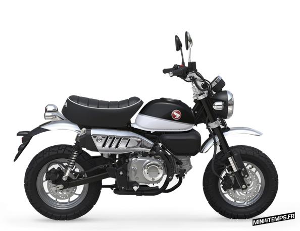 Honda Monkey 125 noir modèle 2018 - mini4temps.fr